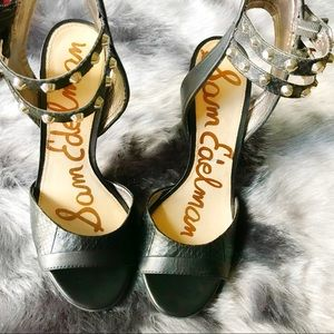 Sam Edelman Black Studded Heels